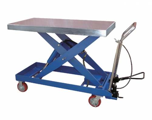 Single-shear pneumatic-hydraulic double-function double-cylinder structure platform car