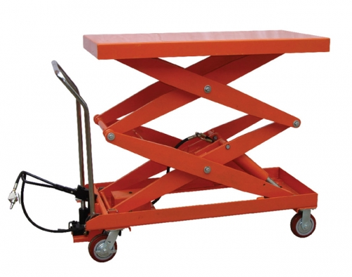 Double-shear Pneumatic Hydraulic Dual-function Double-cylinder Structure Platform Car