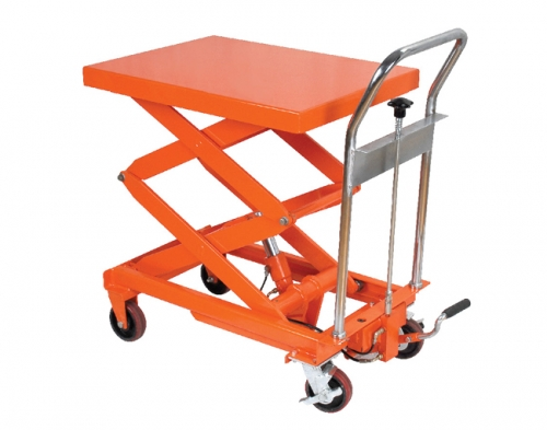 Small countertop double-shear split cylinder structure platform car