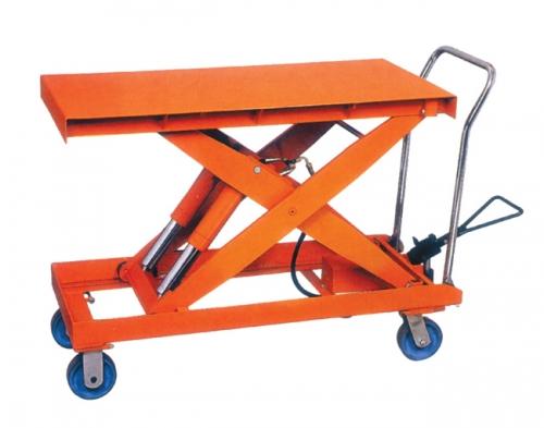 Split double-axle cylinder structure platform car